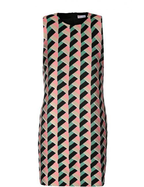 Red Valentino | Женское Многоцветное Прямое Мини-Платье С Ярким Принтом Redvalentino