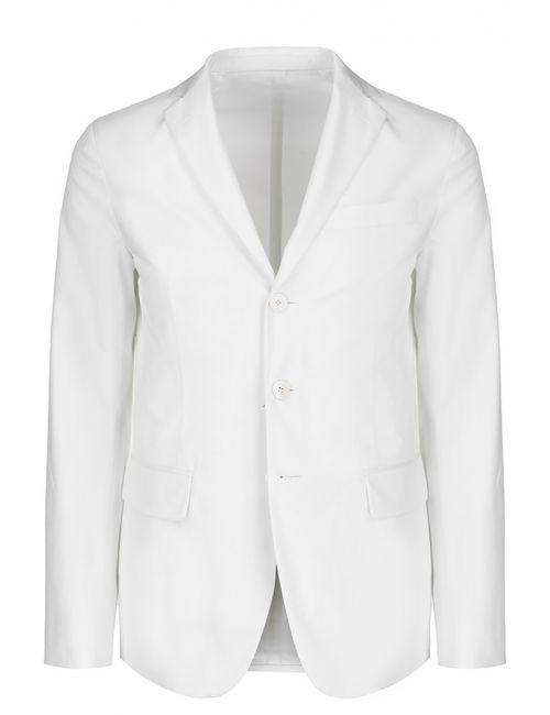 Dsquared2 | Мужской Белый Однобортный Пиджак Из Эластичного Хлопка