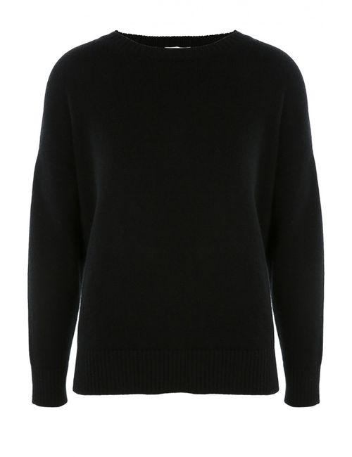 Saint Laurent | Женский Чёрный Кашемировый Пуловер Свободного Кроя Со Спущенным Рукавом