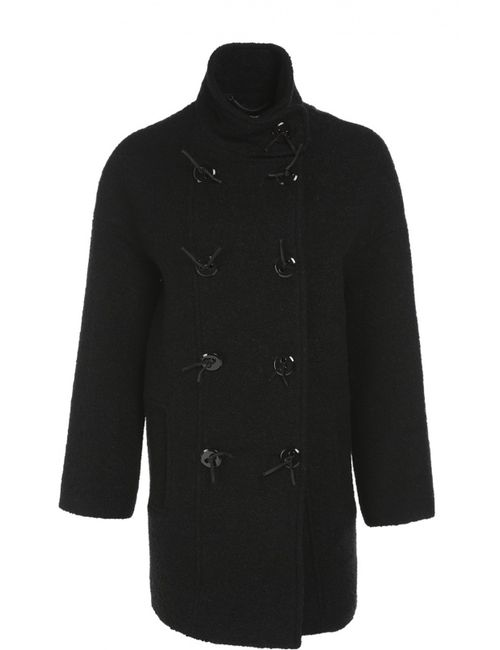 Kenzo | Женское Черный Пальто Прямого Кроя
