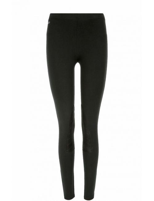 Polo Ralph Lauren | Женские Чёрные Леггинcы С Отделкой Из Замши