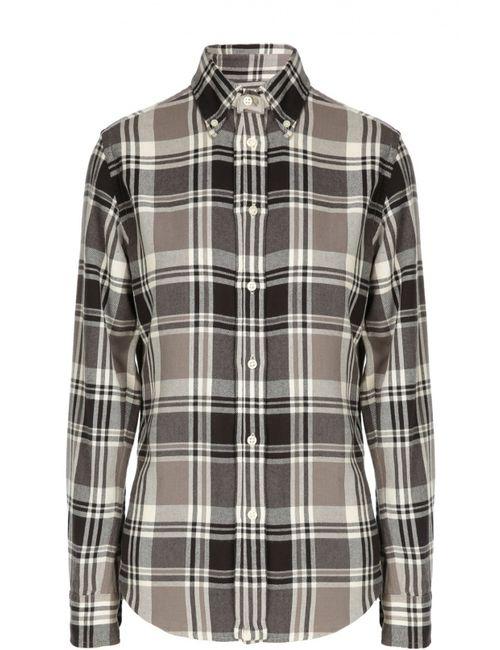 Polo Ralph Lauren | Женская Белая Клетчатая Рубашка Из Хлопка