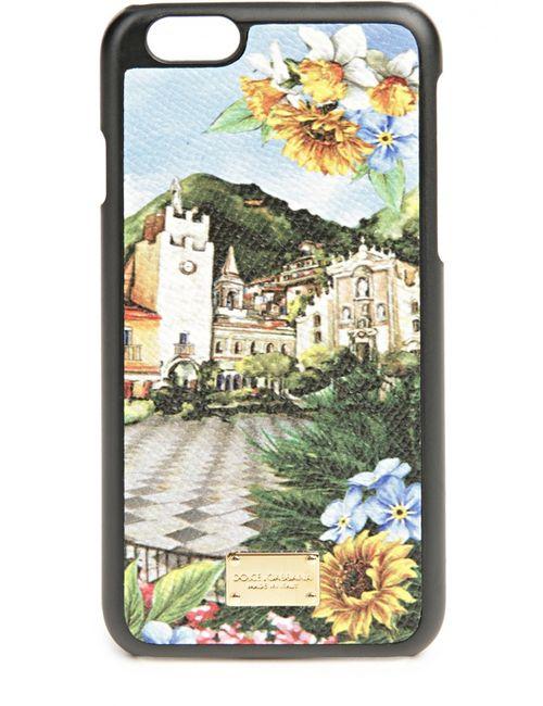 Dolce & Gabbana | Многоцветный Кожаный Чехол Для Iphone 6 С Принтом