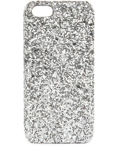 Saint Laurent   Серебряный Чехол Для Iphone Se/5s/5 С Глиттером
