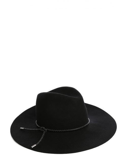 Emilio Pucci | Женская Чёрная Шляпа Из Шерсти С Кожаным Шнурком