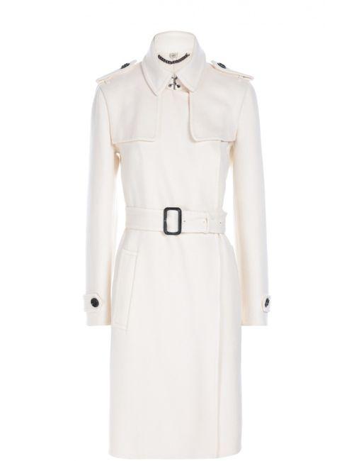 Burberry | Женское Белое Кашемировое Пальто С Поясом