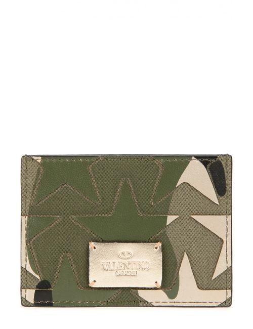 Valentino | Мужской Зелёный Футляр Для Кредитных Карт Camustars