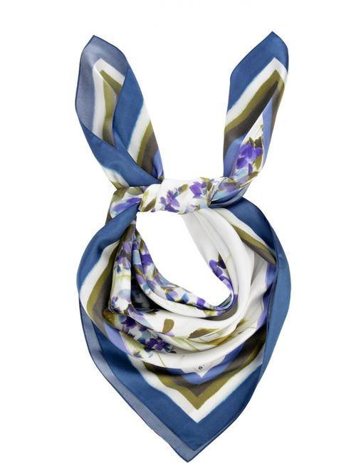 St. John | Женский Многоцветный Шелковый Платок С Принтом