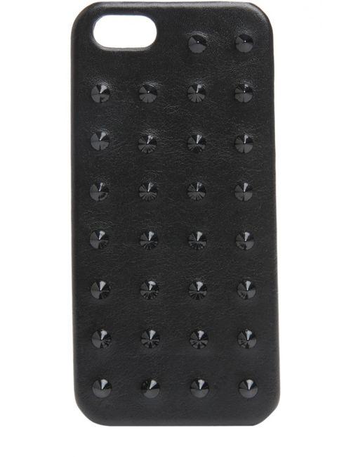 Saint Laurent | Чёрный Кожаный Яехол Для Iphone Se/5s/5