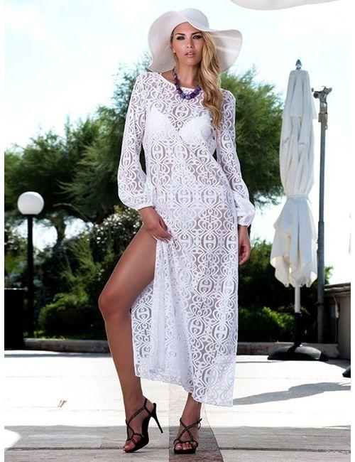 Amarea | Женское Белое Платье 215-16