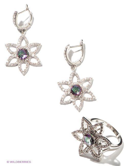 Lovely Jewelry | Женские Серебристые Комплекты Бижутерии