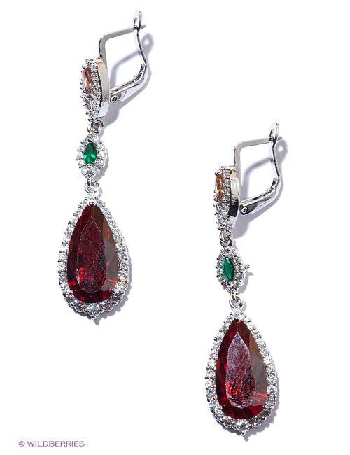 Royal Diamond | Женские Красные Серьги