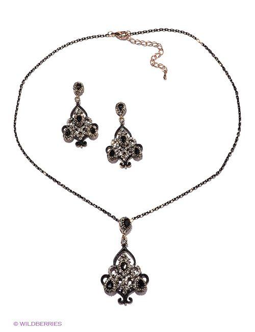 Lovely Jewelry   Женские Чёрные Комплекты Бижутерии