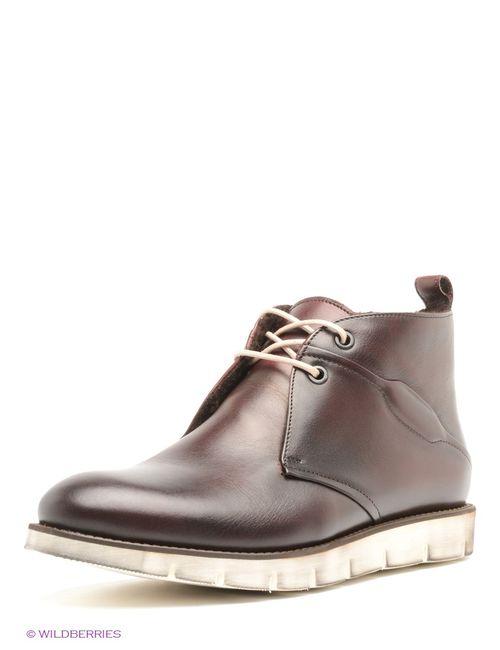 Conhpol | Мужские Темно-Бордовые Ботинки