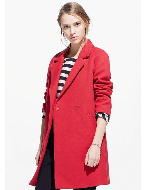 Mango | Женское Красное Пальто