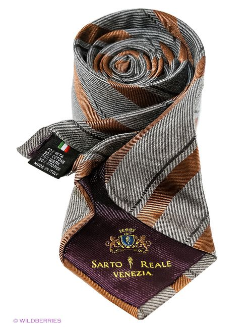 Sarto Reale | Мужские Серые Галстуки