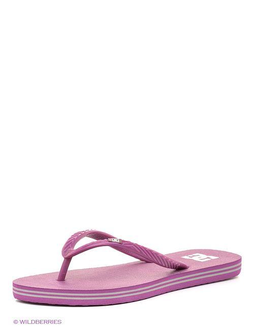 Dcshoes | Женские Лиловые Шлепанцы Dc Shoes