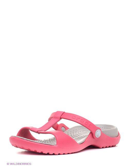 Crocs | Женские Розовые Шлепанцы