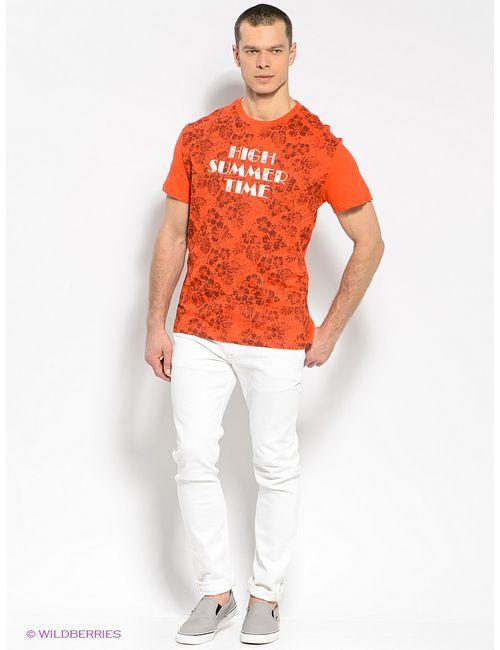Finn Flare | Мужская Оранжевая Футболка