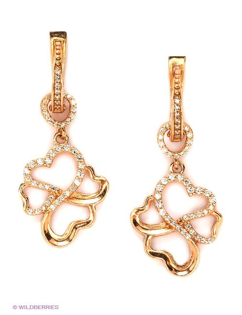 Lovely Jewelry | Женские Золотистые Ювелирные Серьги