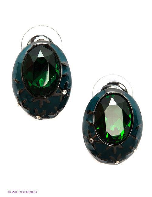 Art Silver | Женские Зелёные Серьги