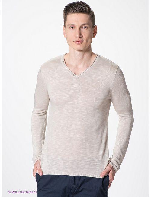 Oodji   Мужские Бежевые Пуловеры