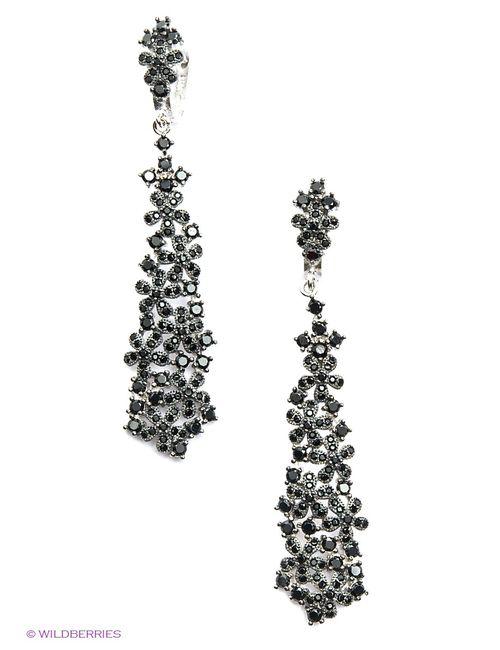 Art Silver | Женские Чёрные Ювелирные Серьги