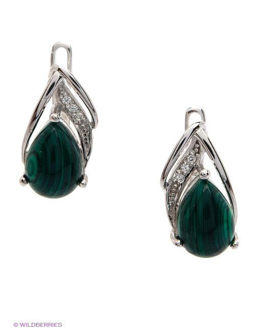 Art Silver | Женские Зелёные Ювелирные Серьги