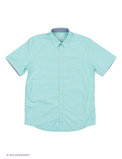 TOM TAILOR | Мужские Бирюзовые Рубашки