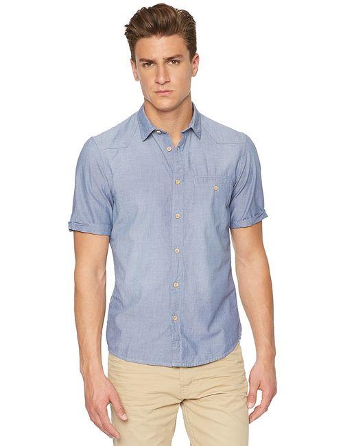 TOM TAILOR | Мужские Синие Рубашки