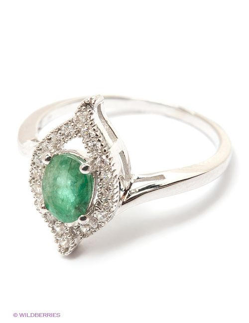 Art Silver   Женские Зелёные Ювелирные Кольца