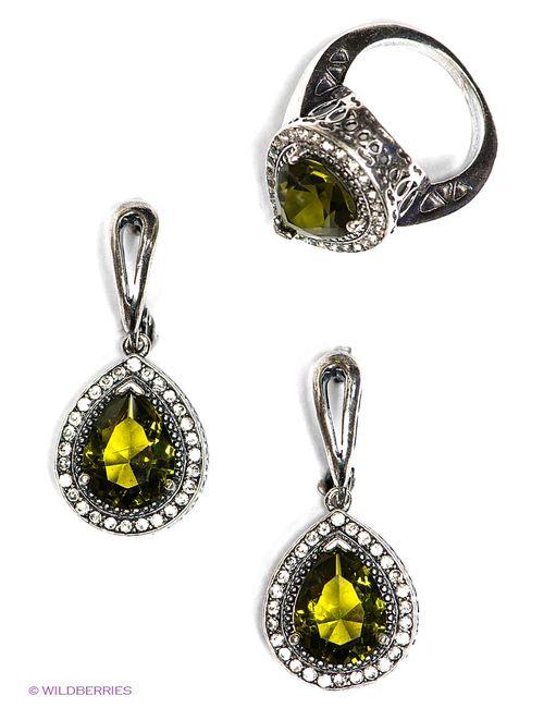 Happy Garnets | Женские Зелёные Комплекты Бижутерии