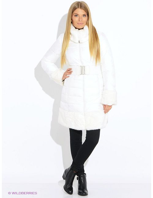 Oodji | Женское Белое Пальто