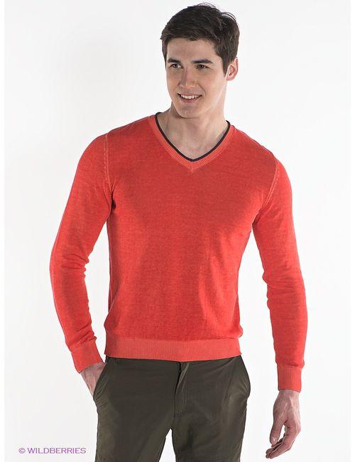 s.Oliver | Мужские Оранжевые Пуловеры