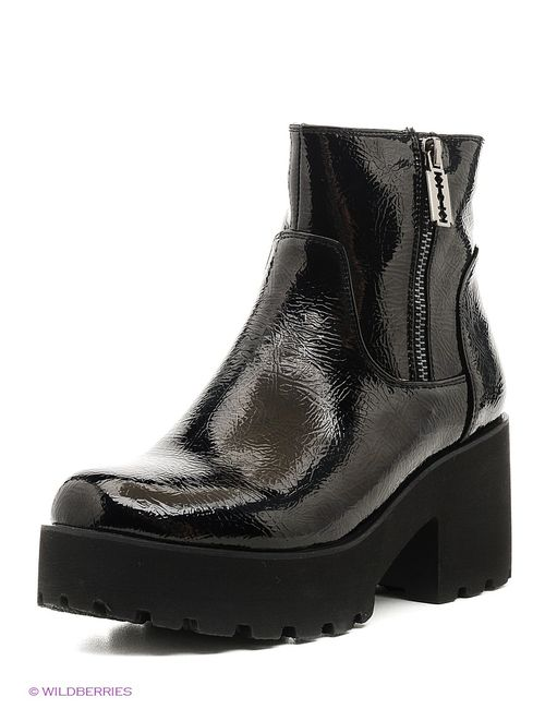 Makfly   Женские Чёрные Ботинки