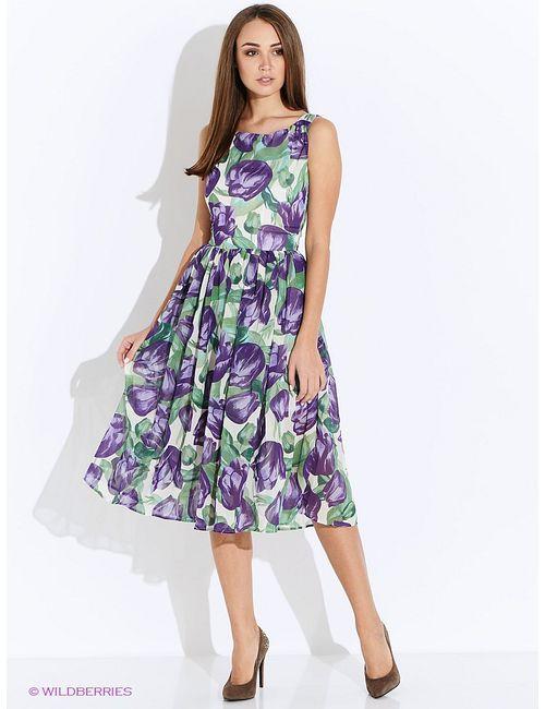 Oodji | Женские Фиолетовые Платья