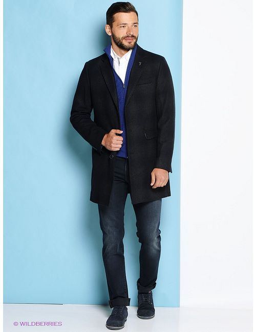 Trussardi | Мужское Антрацитовое Пальто