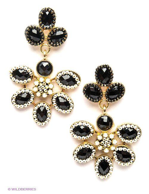 Royal Diamond | Женские Чёрные Серьги