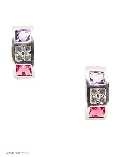 Royal Diamond | Женские Розовые Серьги