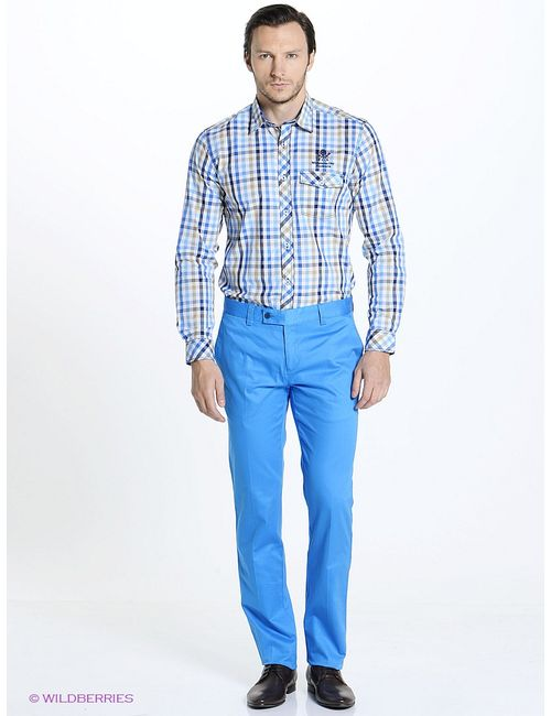 JOHN JENIFORD | Мужские Голубы Сорочки