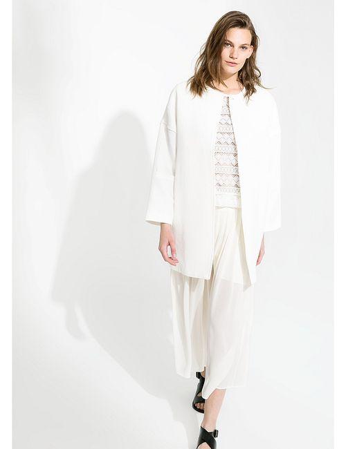 Mango | Женское Белое Пальто