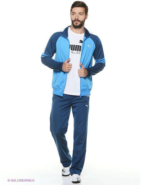 Puma   Мужские Голубы Спортивные Костюмы