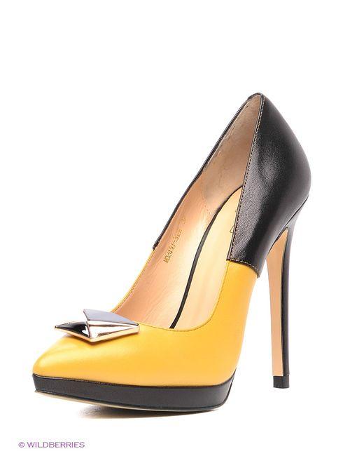 Moda Donna | Женские Жёлтые Туфли