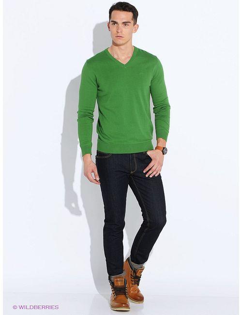 s.Oliver | Мужские Зелёные Пуловеры