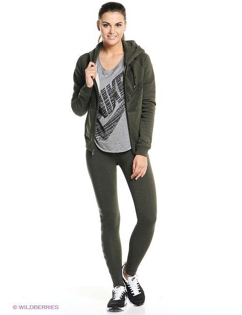 Nike | Женские Зелёные Толстовки