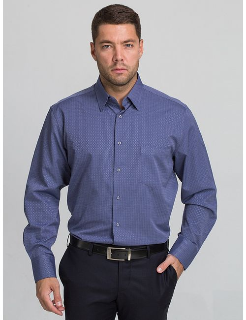 JOHN JENIFORD | Мужские Индиго Рубашки