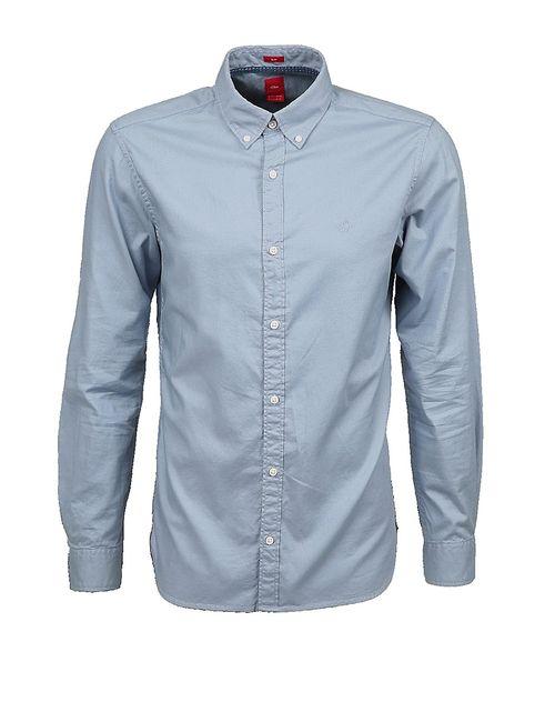s.Oliver | Мужские Голубы Рубашки
