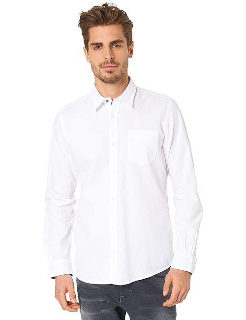 TOM TAILOR | Мужские Белые Рубашки