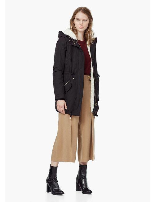 Mango   Женское Чёрное Пальто