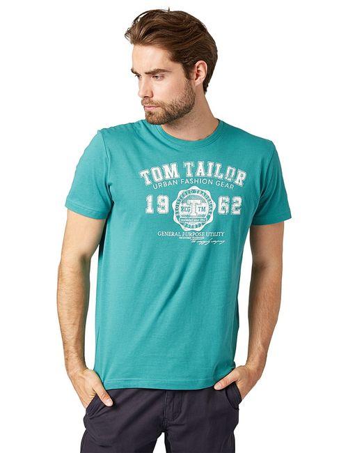 TOM TAILOR | Бирюзовые Футболки